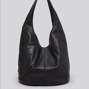 Tory Burch All T pebbled leather hobo bag.